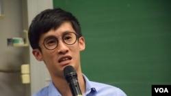 香港立法會議員梁頌恆 (美國之音湯惠芸拍攝)