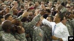Američki predsjednik Barack Obama u Fort Campbellu, u Kentuckyju, 6. svibnja 2011.