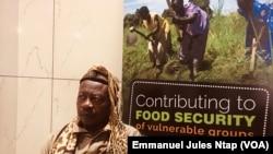 Sa majesté Bruno Mvondo, chef traditionnel, à Yaoundé, le 4 octobre 2019. (VOA/Emmanuel Jules Ntap)