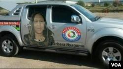 Mutungamiri weProgressive Democrats of Zimbabwe Muzvare Barbara Nyagomo.