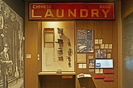 Artifacts from a typical Chinese American 'hand laundry'