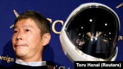 Japanese billionaire Yusaku Maezawa, pictured here for being chosen as the first private passenger by SpaceX.