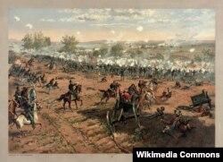 1863년 7월 게티즈버그 전투.