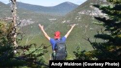 Mikah Meyer celebrates the splendor of the newly established Katahdin National Park in Maine.