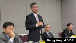 台灣陸委會與政治大學法學院共同舉辦中國居住證對台灣的衝擊與影響座談會(美國之音張永泰拍攝)