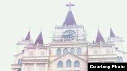 被列入拆迁目标教堂的十字架。(对华援助协会网站图片)