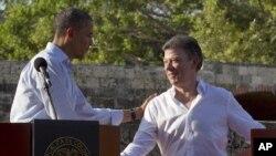 El mandatario estadounidense y su homólogo colombiano se reunieron el pasado mes de abril en Cartagena, durante la VI Cumbre de las Américas.