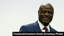 Constant Omari, président de la Fédération congolaise de football association (Fécofa) depuis 2005, RDC, 9 mai 2017. (Facebook/Constant Omari)
