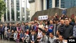 """网络图片 公民及在押律师家属4月25日赴长沙围观谢阳律师""""庭审"""""""