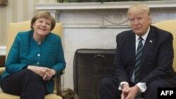 Nemačka kancelarka Angela Merkel tokom susreta sa Donaldom Trampom u Beloj kući, 17. marta 2017. godine. (Foto: AFP/Soul Loeb)
