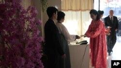 朝鲜平壤居民2014年3月投票选举人民代表