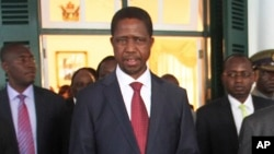 FILE - Zambian President Edgar Lungu is seen in a Feb. 6, 2015, photo.