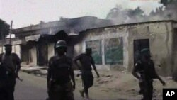Pasukan keamanan Nigeria dalam sebuah operasi di kota Maiduguri (foto: dok). Pasukan Nigeria menewaskan sedikitnya 20 militan di Nigeria timur laut.