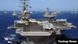 미국의 핵추진 항공모함인 로널드 레이건 호. (자료사진)