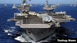 미츠급 핵추진 항공모함인 로널드 레이건 호. (자료사진)