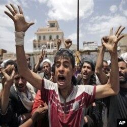 Manifestation contre le président Ali Abdullah Saleh