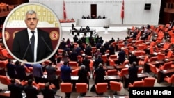 Parlamenterê HDPê Omer Farûk Gergerlioglu di Meclisa Tirkiyê de