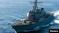 Tàu khu trục mang tên lửa dẫn đường USS John S. McCain.