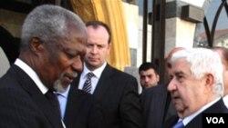Kofi Annan (a goch)