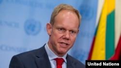 İngiltere'nin Birleşmiş Milletler Daimi Temsilcisi, Birleşmiş Milletler Güvenlik Konseyi Dönem Başkanı Matthew Rycroft