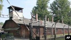 Un bâtiment de l'ancien camp nazi d'Auschwitz à Oswiecim, Pologne, le 20 juillet 2016.