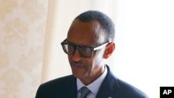 Le président du Rwanda Paul Kagame lors de sa rencontre avec le Pape, au Vatican, le 20 mars 2017.