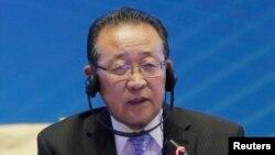 북한 김계관 외무성 고문.