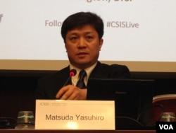 日本東京大學高等亞洲研究所教授松田康博 (美國之音鍾辰芳拍攝)