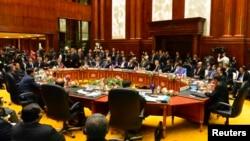 Лидеры стран Юго-Восточной Азии на саммите АСЕАН в Брунее. 9 октября 2013 г.