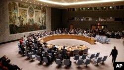 Le conseil de sécurité des Nations unies. (AP Photo/Seth Wenig)