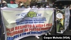 Manifestação em Luanda contra violência policial