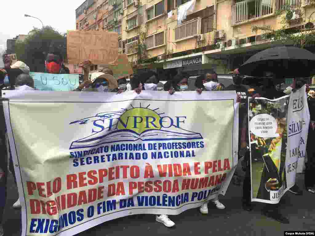 Manifestação em Luanda contra violência policial, Luanda, Angola