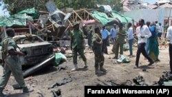 지난 9월 소말리아 모가디슈의 한 식당가에서 발생한 폭탄 테러 현장 (자료사진)