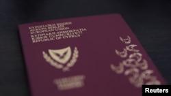 FILE PHOTO: Photo illustration of a Cypriot passport, October 12, 2019. REUTERS/Stringer/Illustration/File Photo