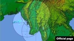 ေမလ ၁၂ ရက္ေန႔ မိုးေလ၀သ အေျခအေန (ဓါတ္ပံု-မိုးလေဝသနှင့်ဇလဗေဒညွှန်ကြားမှုဦးစီးဌာန )