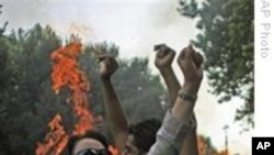 An anti-government Iranian female student protesting in Iran, Dec. 7, 2009. (file)