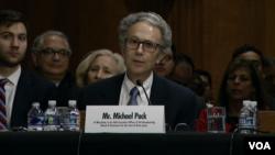 Kandidat za direktora Američke agencije za globalne medije Micahel Pack svjedoči u Senatu (arhivski snimak)