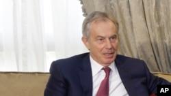 FILE - International Mideast envoy Tony Blair