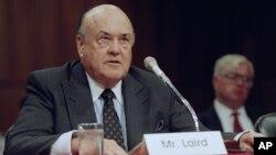 ທ່ານ Melvin R. Laird, ອະດີດລັດຖະມົນຕີປ້ອງກັນປະເທດ. ກັນຍາ 1992.