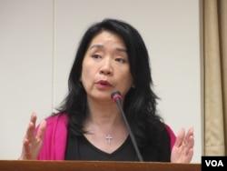 台灣執政黨國民黨立委李貴敏(美國之音張永泰拍攝)