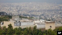FILE - Roumieh prison, Lebanon's biggest jail, is seen in a hilly eastern suburb overlooking Beirut, Lebanon.