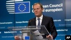Chủ tịch Liên hiệp Châu Âu Donald Tusk loan báo quyết định vừa kể vào chiều tối hôm qua.