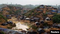 位於孟加拉國的羅興亞人難民營。