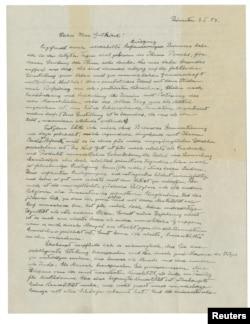 «نامه خدا» - نامه دستنویس اینشتین به فیلسوف آلمانی اریک گوتکیند