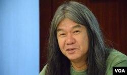 香港社民連前立法會議員梁國雄。(美國之音湯惠芸)