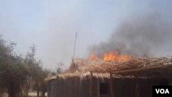 Wani wuri da aka kai hari a rikicin Boko Haram a jihar Borno.
