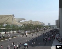上海世博园区一景
