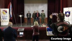 Aleksandar Kravčenko i Viktor Zaplatin u Višegradu. Izvor: BIRN BiH
