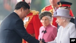 习近平与英国女王伊丽莎白二世会面(2015年10月20日)