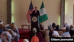 John Kerry a Sokoto yana jawabi